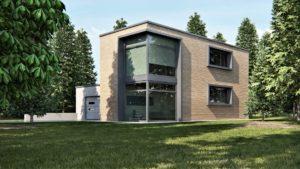 render esterni casa moderna 3dcomotion