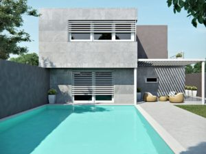 render esterni casa piscina 3dcomotion