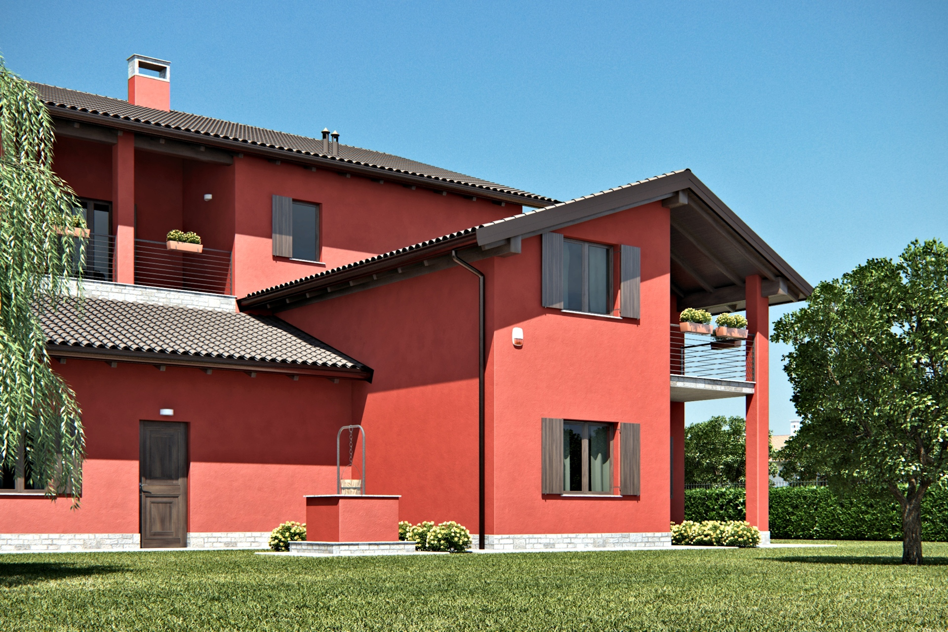 render esterni cascina 3dcomotion