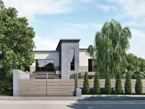 render esterni edificio minimalista moderno 3dcomotion