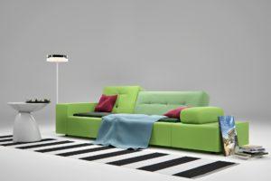 render interni divano esposizione 3dcomotion