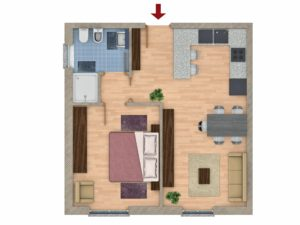 render piantine 2d appartamento 3dcomotion