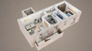 render spaccati piantine 3d appartamento 3dcomotion